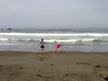 Playing on the beach in San Simeon, Calif. // (c) 2013 Janeen Christoff