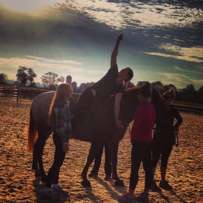 Yoga on Horseback at Salamander Resort and Spa // (c) 2013 Janeen Christoff