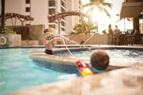 The family-friendly Embassy Suites Waikiki on the Beach // (c) Outrigger Hotels & Resorts