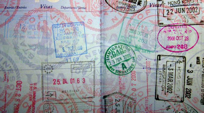 Passport stamps // (c) 2014 Ho Jon Lee