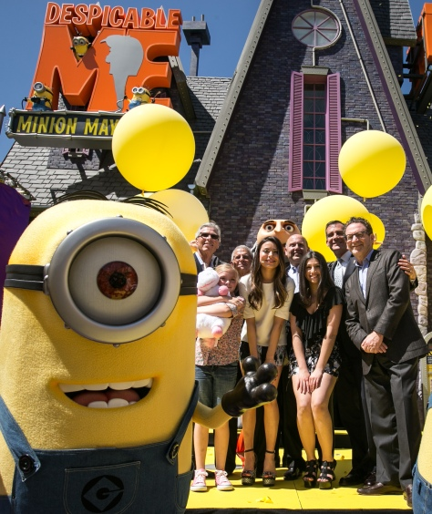 "The cast of ""Despicable Me"" and Universal Studios executives attended the opening. // (c) Universal Studios"