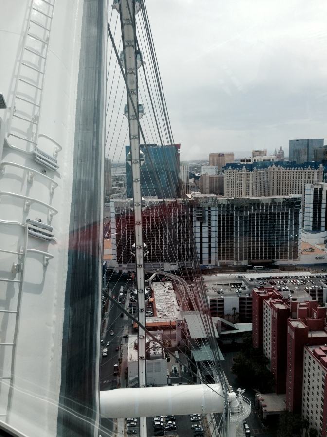 The High Roller observation wheel is the tallest in the world at 550 feet. // (c) 2014 Janeen Christoff