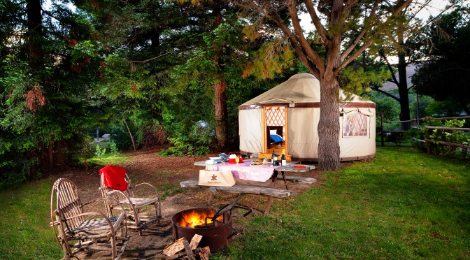Stay in a yurt this Easter at El Capitan Canyon. // (c) 2014 El Capitan Canyon