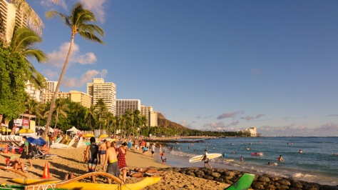 Waikiki Beach, Honolulu // (c) 2014 Cristo Vlahos