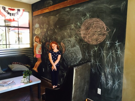 The blackboard at Chomp in Solvang // (c) Janeen Christoff